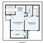 Advenir at Town Centre Apartment Floor Plan