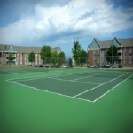Valley Creek Apartments Tennis Court
