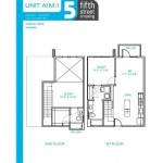 Oaks 5th Street Crossing Apartment Building Floor Plan